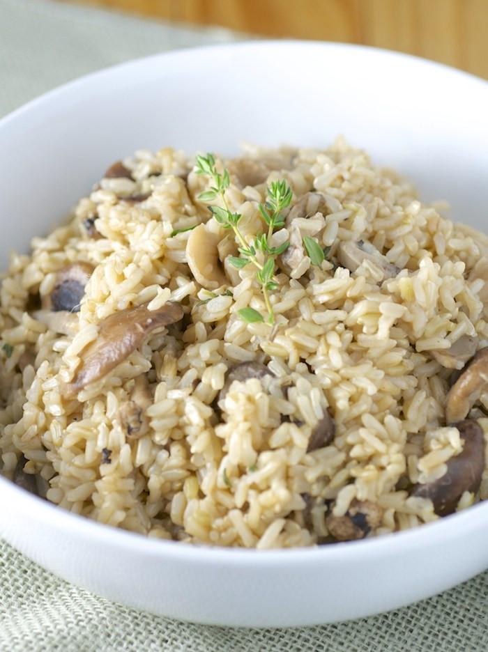 Mushroom Rice Pilaf  Mushroom Rice Pilaf Feasting on Fruit