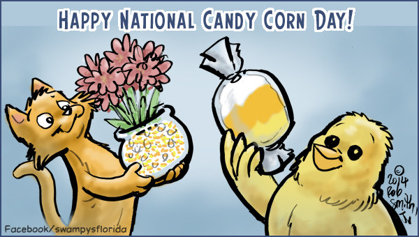 National Candy Corn Day  Swampy's Flordia says Happy National Candy Corn Day