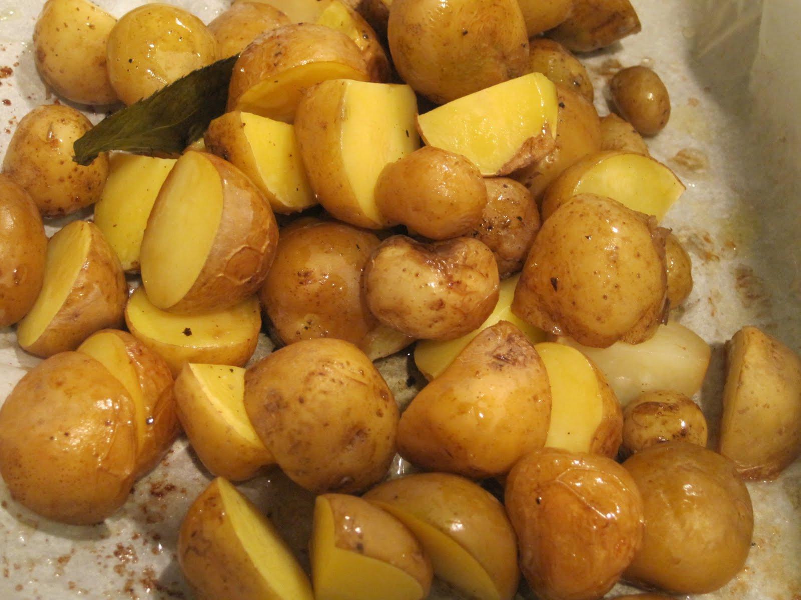 New Potato Recipe  New Potatoes With Cheese And Tomatoes Recipe — Dishmaps