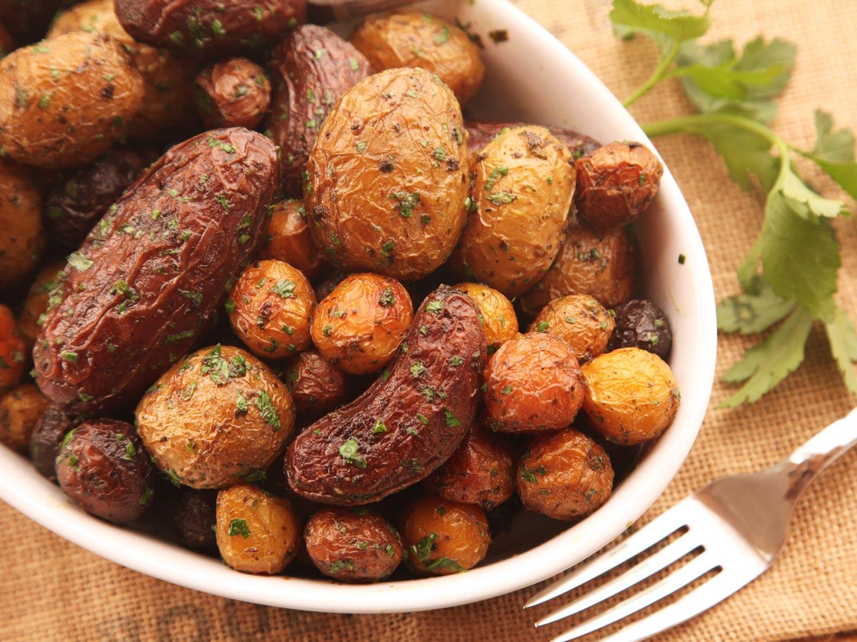 New Potato Recipe  Extra Crispy Herb Roasted New Potatoes Recipe