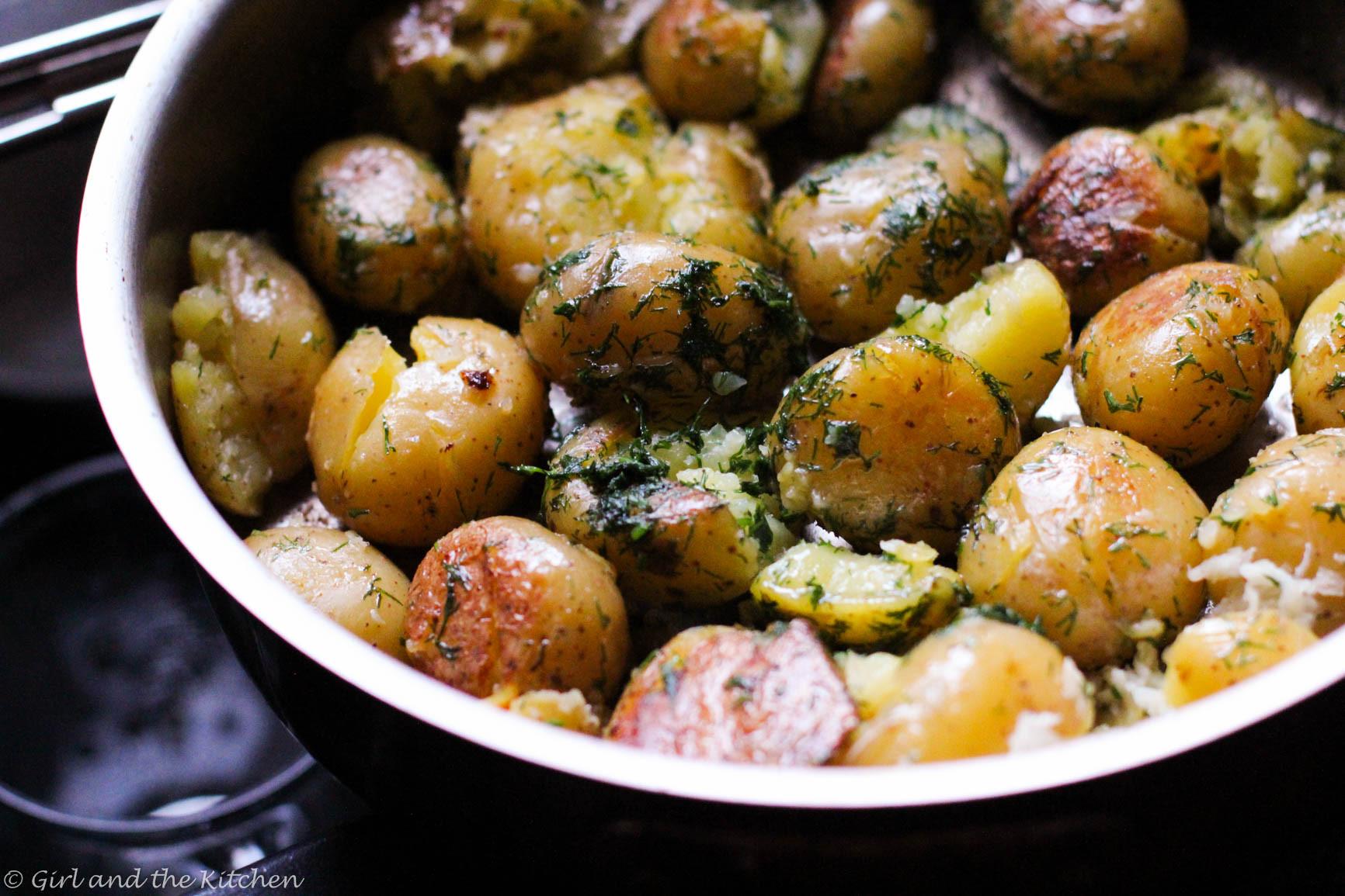 New Potato Recipe  Garlic Dill New Potatoes Recipe — Dishmaps
