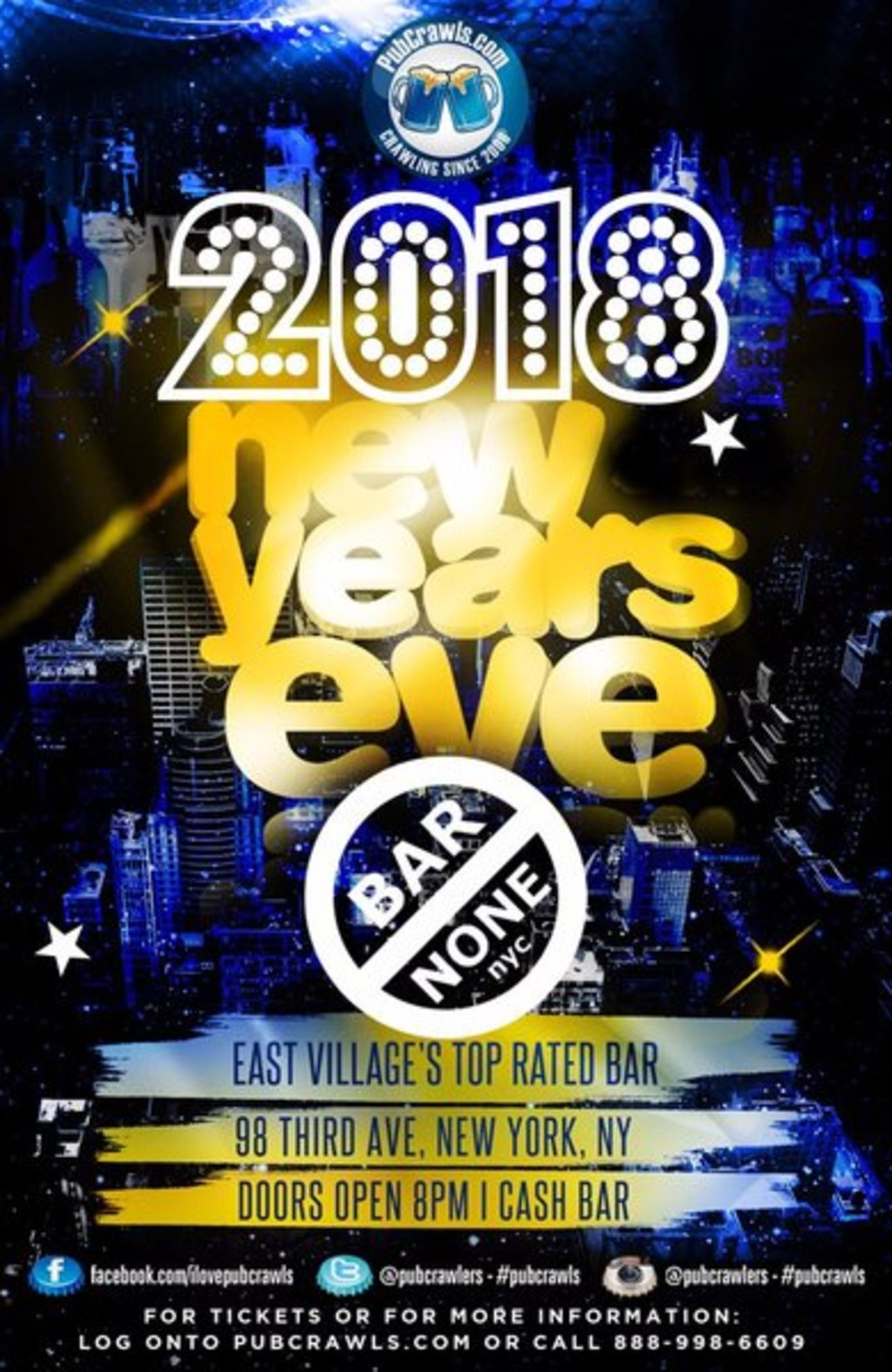 New Year'S Eve Dinner Nyc 2018  Bar None New Year s Eve 2018 Tickets Bar None New