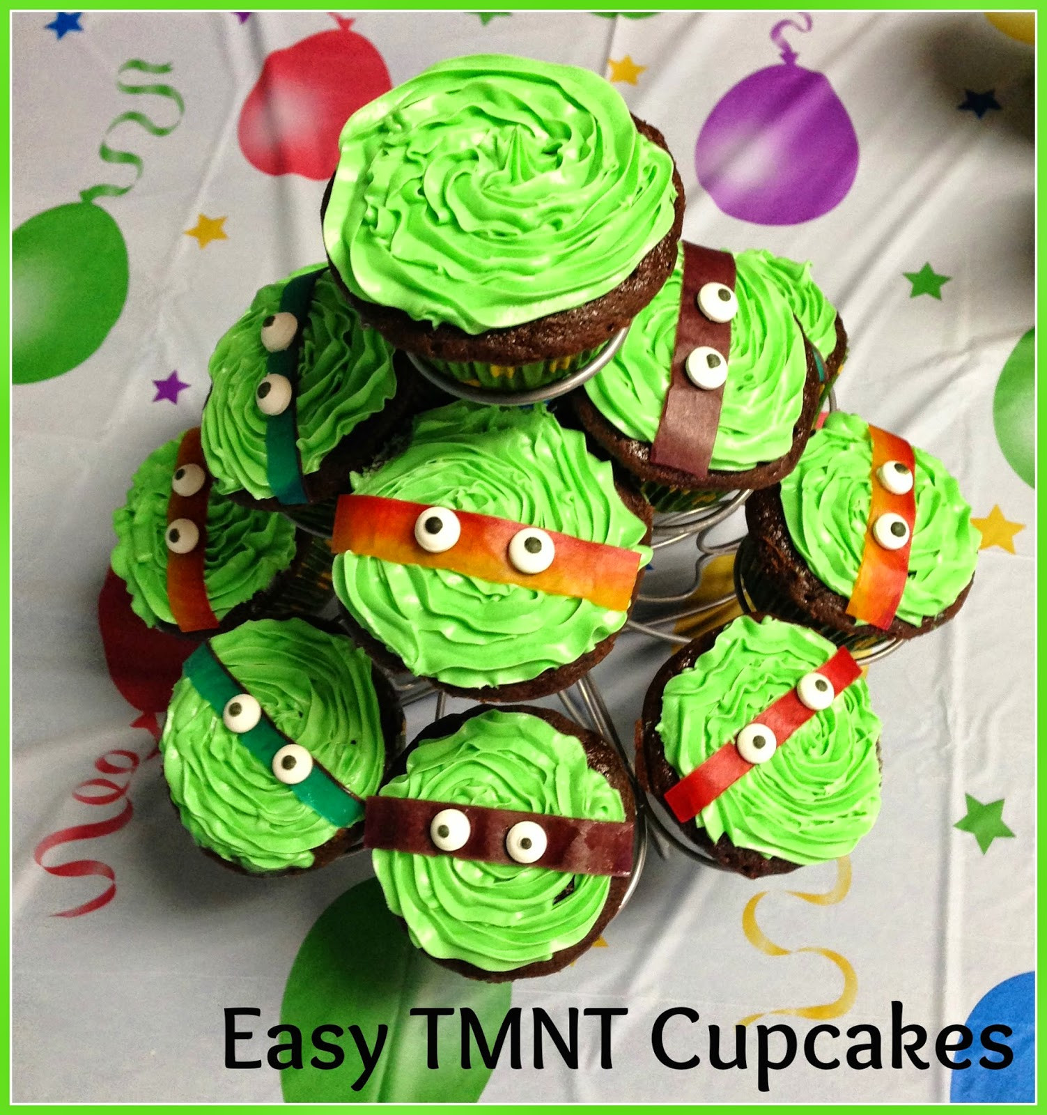 Ninja Turtle Cupcakes  BentoLunch What s for lunch at our house How to