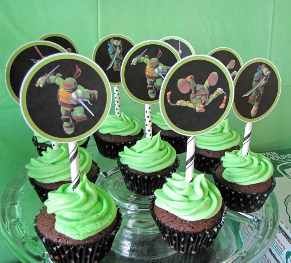 Ninja Turtle Cupcakes  Ninja Turtle Party Ideas Craving some Creativity
