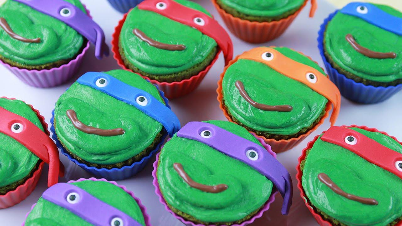 Ninja Turtle Cupcakes  Teenage Mutant Ninja Turtles Cupcakes by Rosanna Pansino