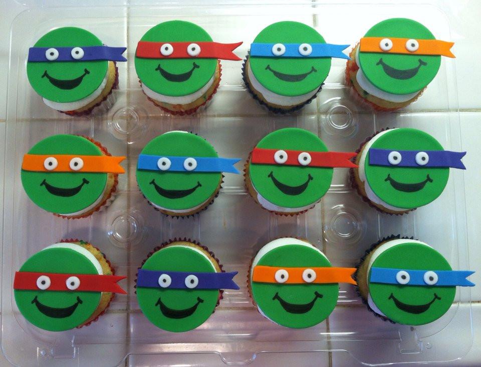 Ninja Turtle Cupcakes  Fondant Teenage Mutant Ninja Turtles Cupcake Toppers