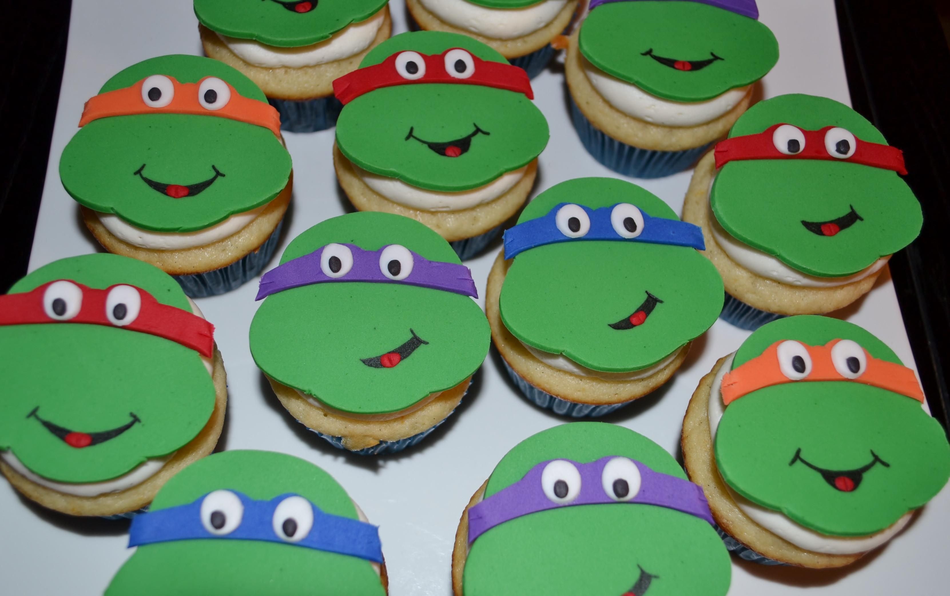 Ninja Turtle Cupcakes  Teenage Mutant Ninja Turtle Cupcakes