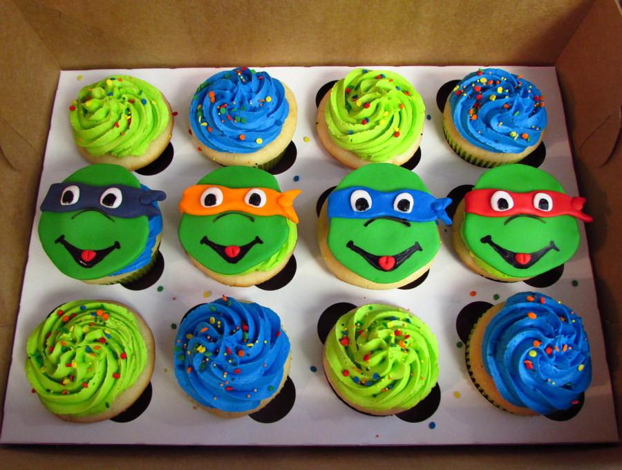 Ninja Turtle Cupcakes  Teenage Mutant Ninja Turtles Cupcakes CakeCentral