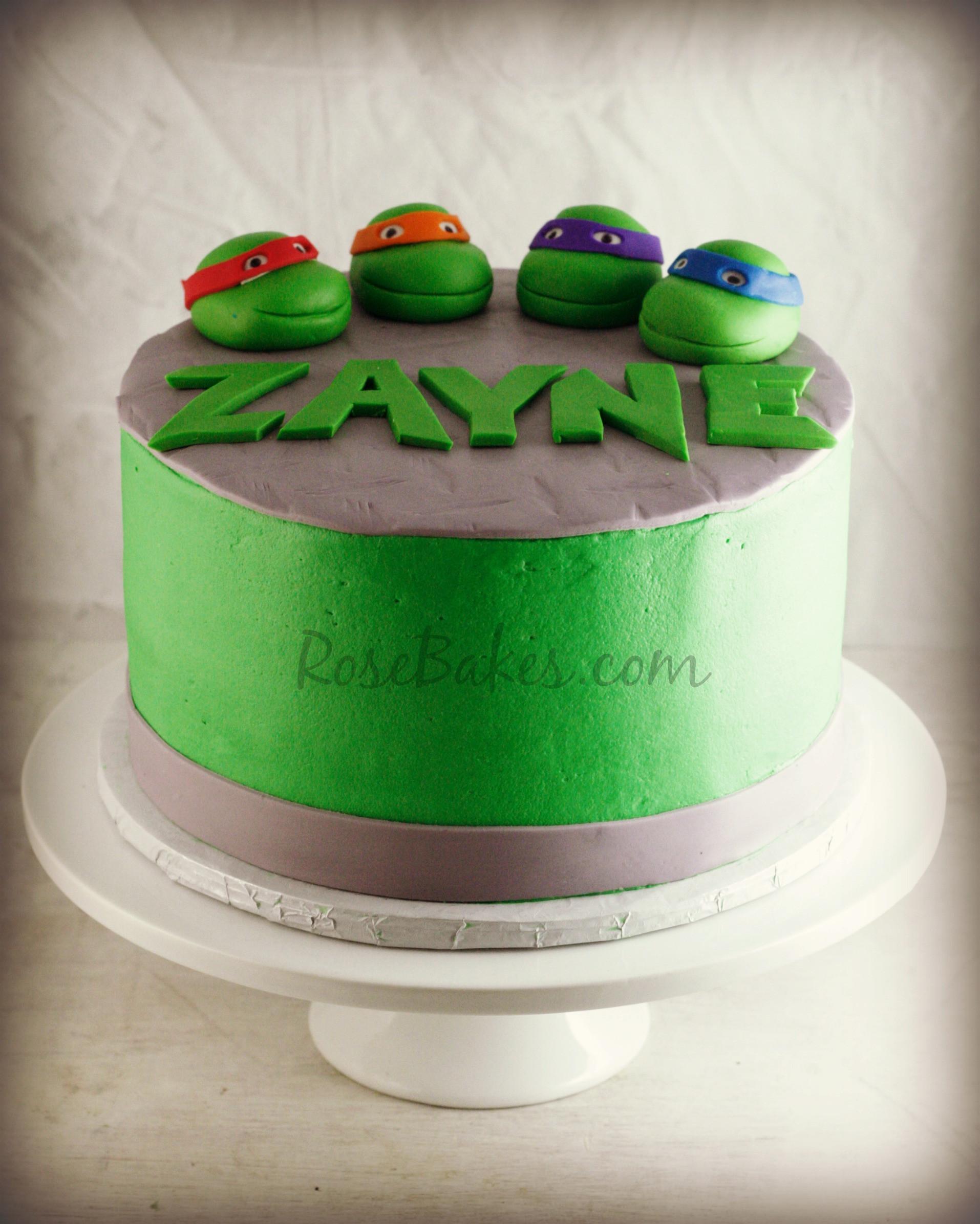 Ninja Turtle Cupcakes  Teenage Mutant Ninja Turtles Cake Rose Bakes