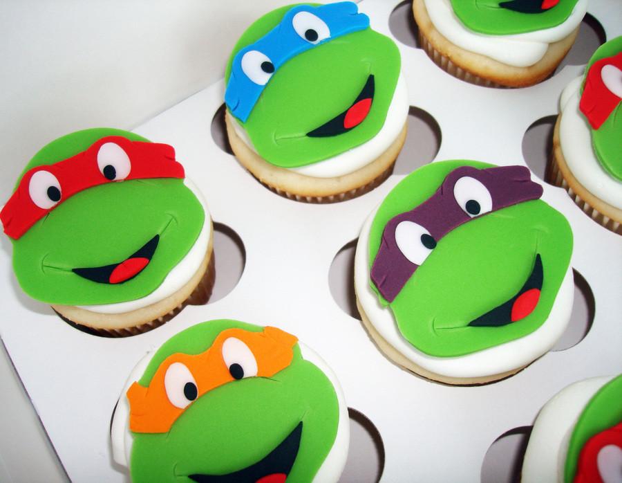 Ninja Turtle Cupcakes  Teenage Mutant Ninja Turtle Cupcakes CakeCentral