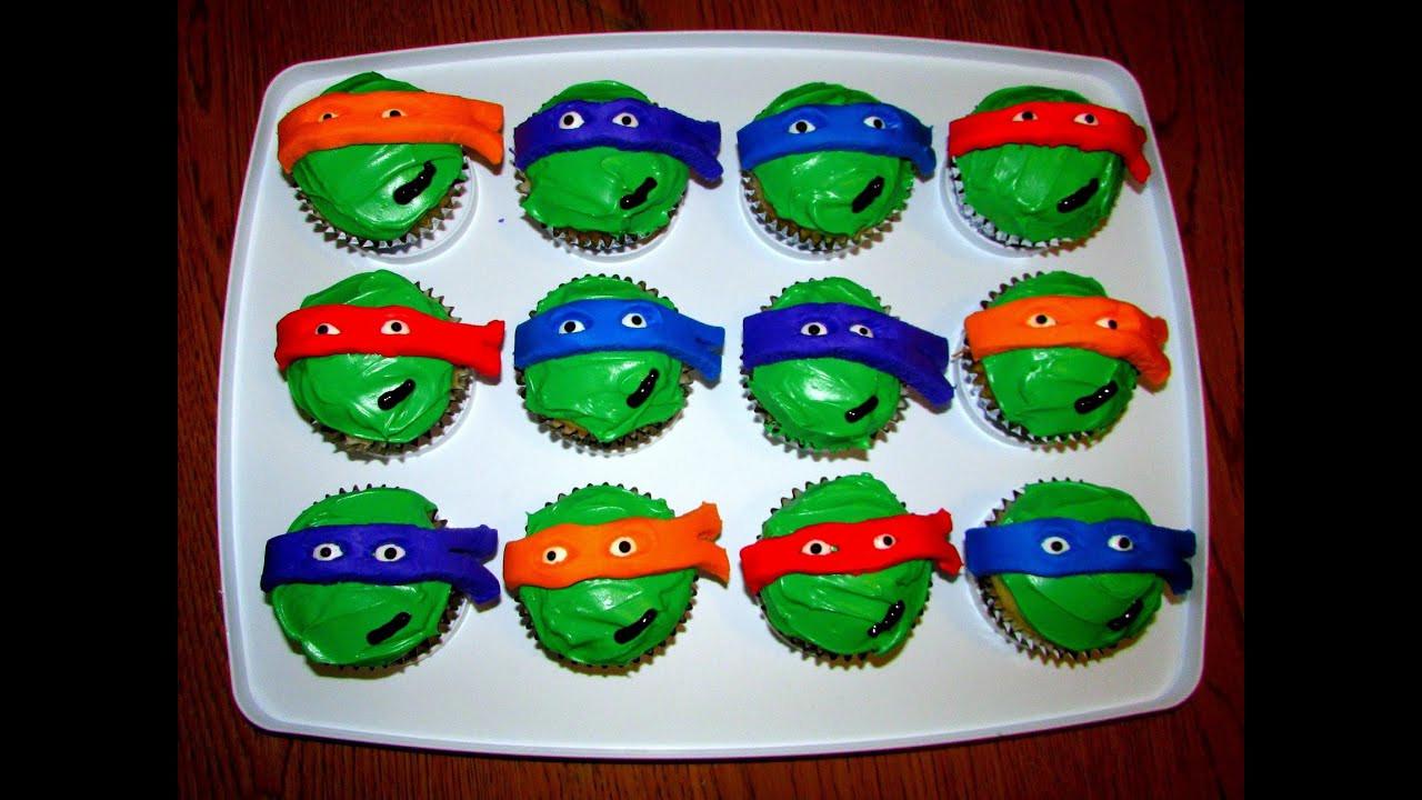 Ninja Turtle Cupcakes  Ninja Turtle Cupcakes