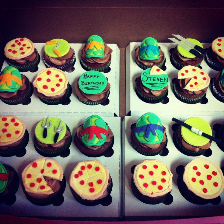 Ninja Turtle Cupcakes  Easy Ninja Turtle Cupcakes
