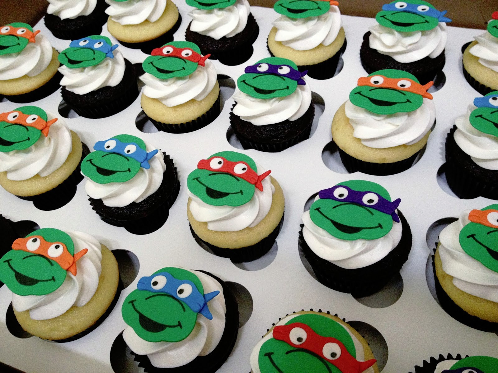 Ninja Turtle Cupcakes  Emily s Delights Teenage Mutant Ninja Turtle Cupcakes