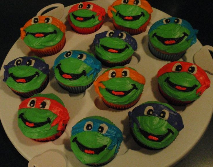 Ninja Turtle Cupcakes  ninja turtles cupcakes