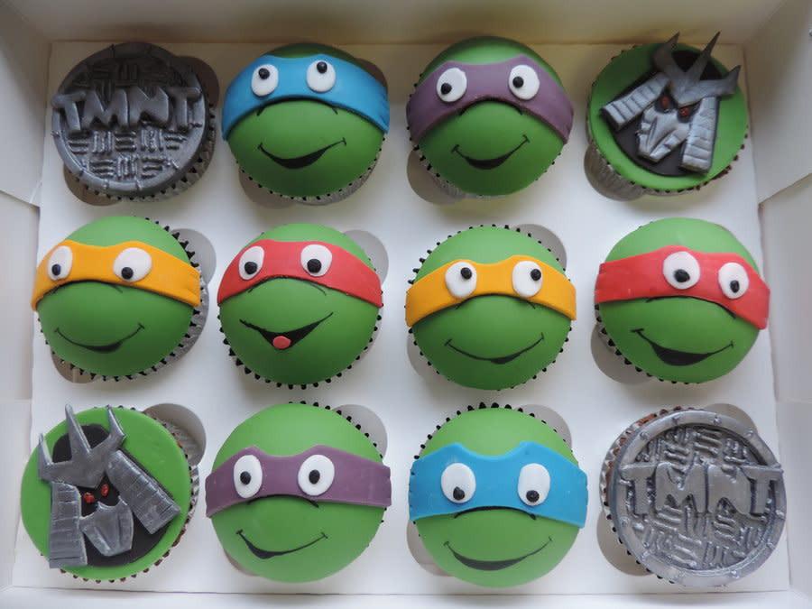 Ninja Turtle Cupcakes  Teenage mutant ninja turtle cupcakes Cake by David Mason
