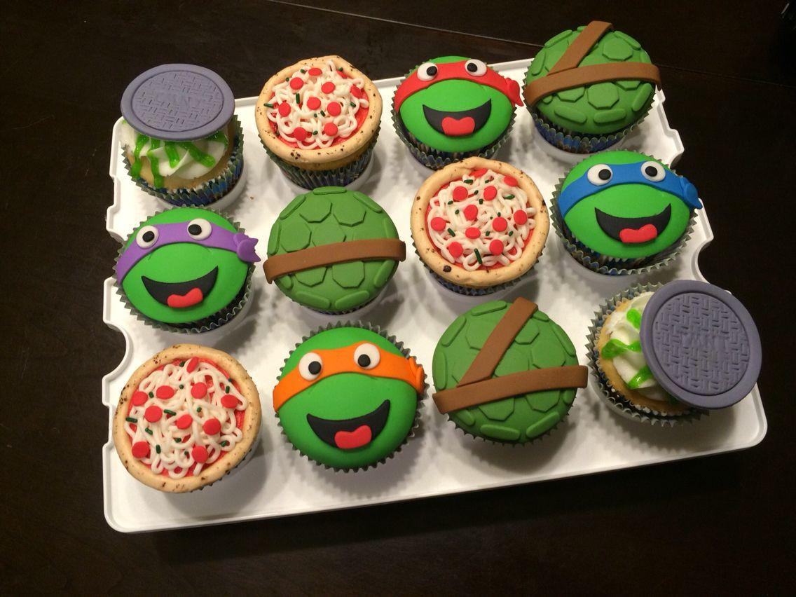 Ninja Turtle Cupcakes  TMNT Cupcakes Teenage Mutant Ninja Turtle Cupcakes