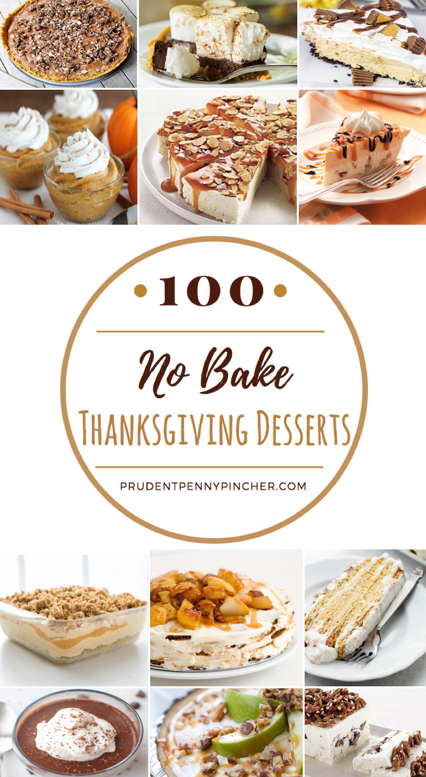 No Bake Thanksgiving Desserts  100 No Bake Thanksgiving Desserts Prudent Penny Pincher