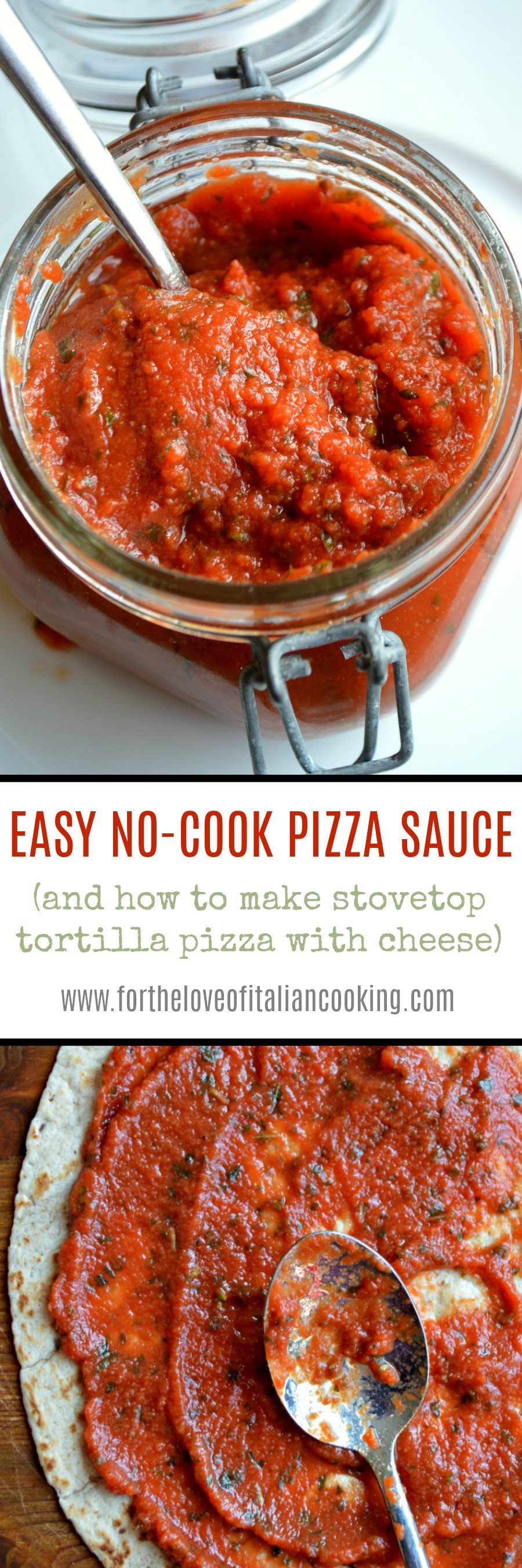 No Cook Pizza Sauce  EASY NO COOK PIZZA SAUCE plus how to make stovetop