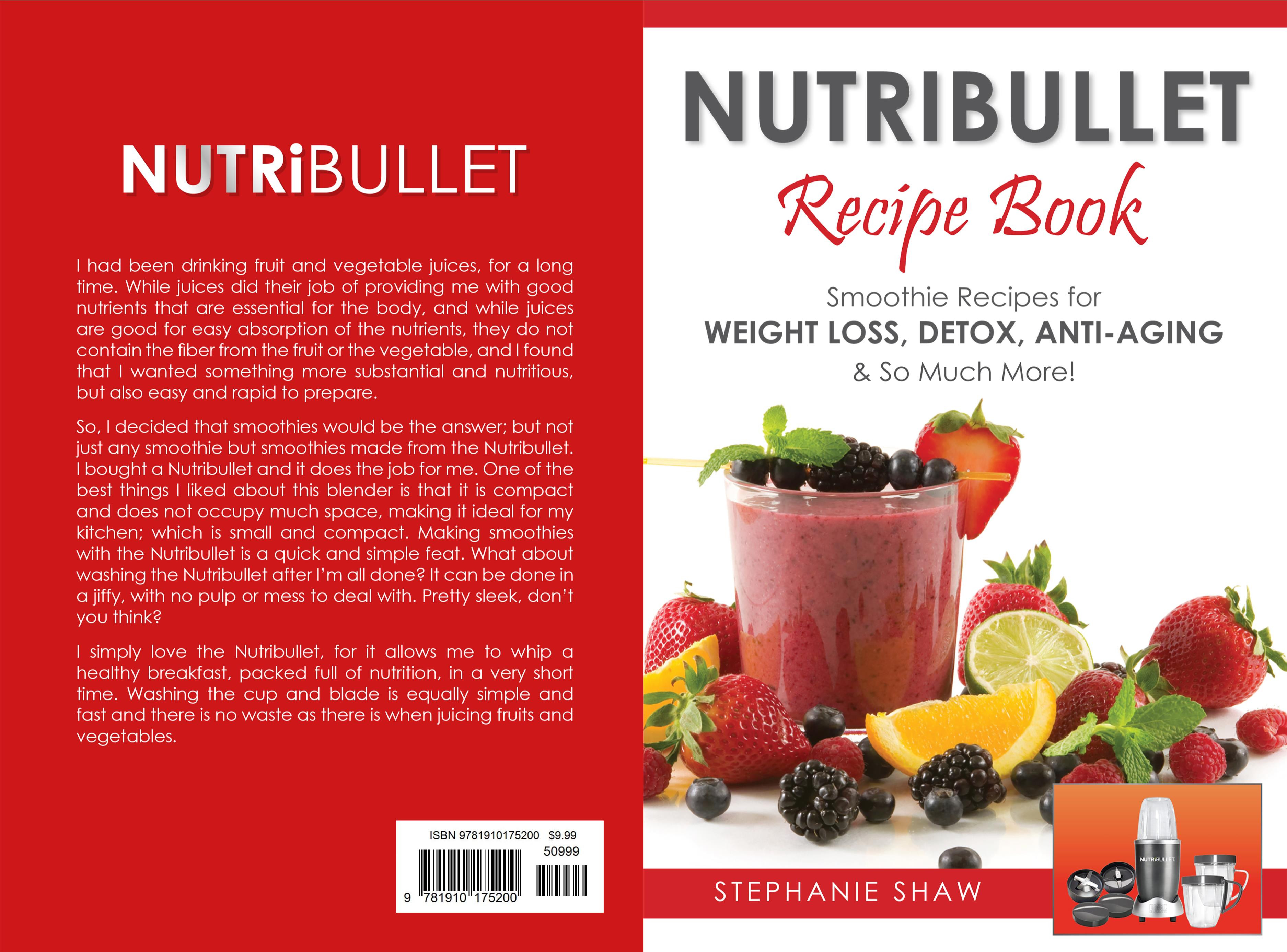 Nutribullet Smoothie Recipes  Nutribullet Recipe Book Smoothie Recipes for Weight Loss