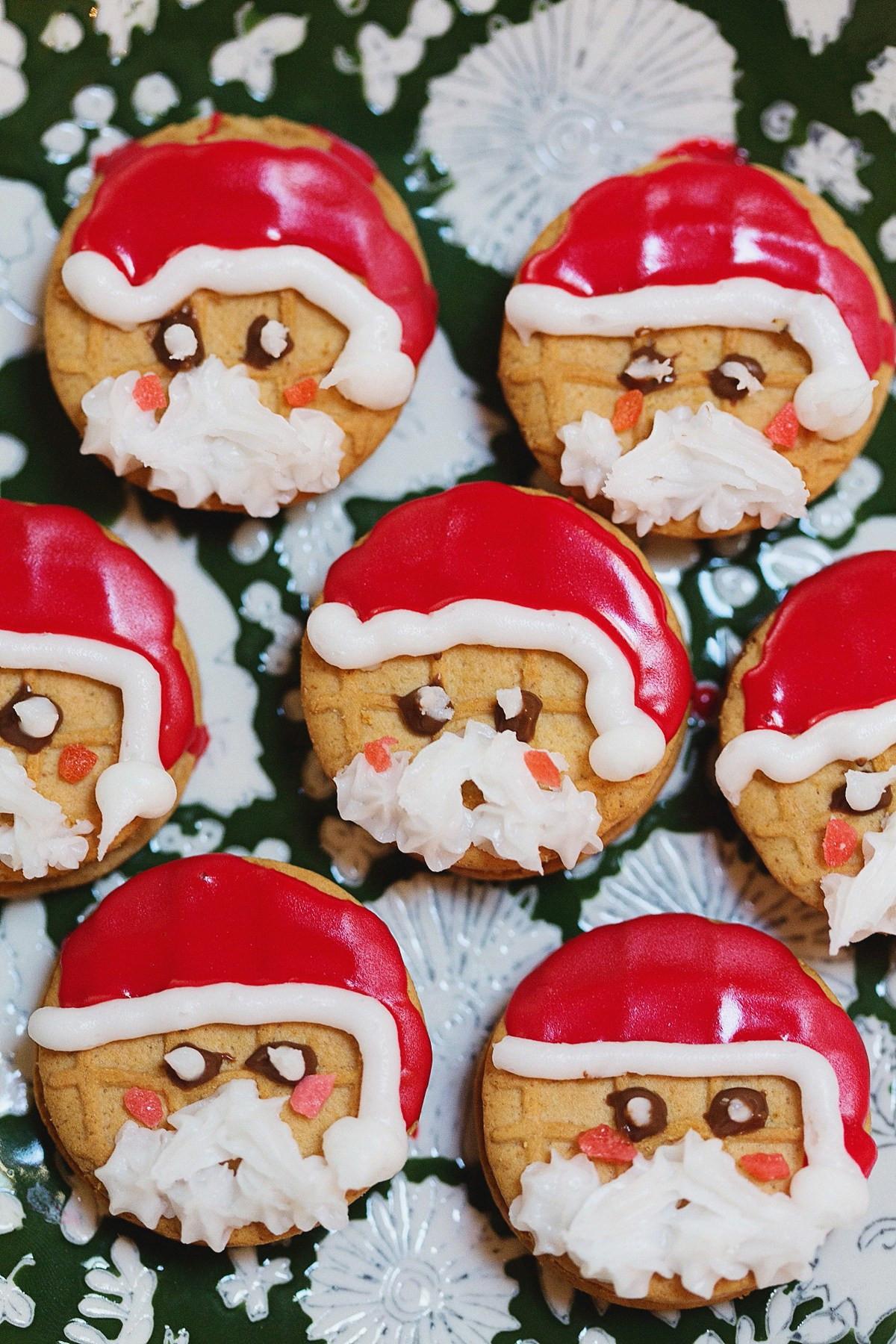 Nutter Butter Cookies  NUTTER BUTTER Santas Snowmen
