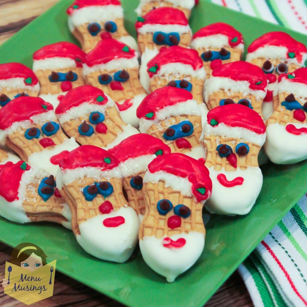 Nutter Butter Cookies  Menu Musings of a Modern American Mom Nutter Butter Santa