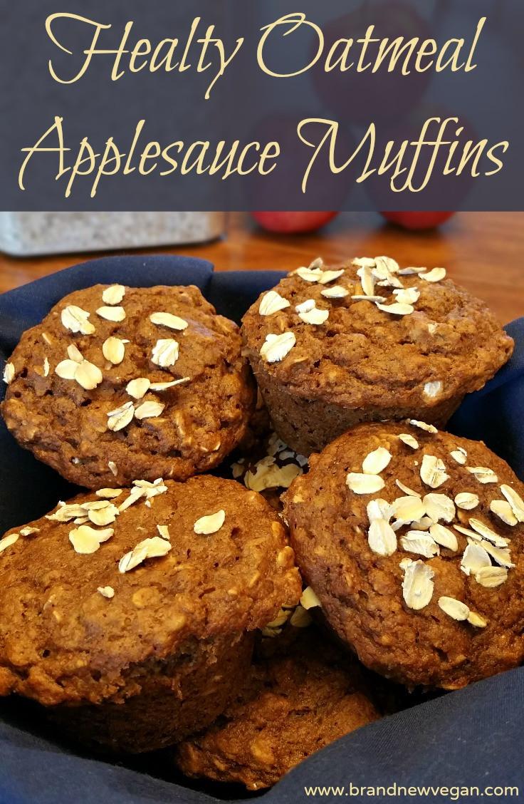 Oatmeal Applesauce Muffins  Oatmeal Applesauce Muffins Brand New Vegan