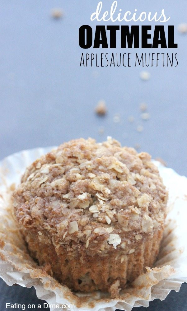 Oatmeal Applesauce Muffins  Oatmeal Applesauce Muffins that will knock your socks off