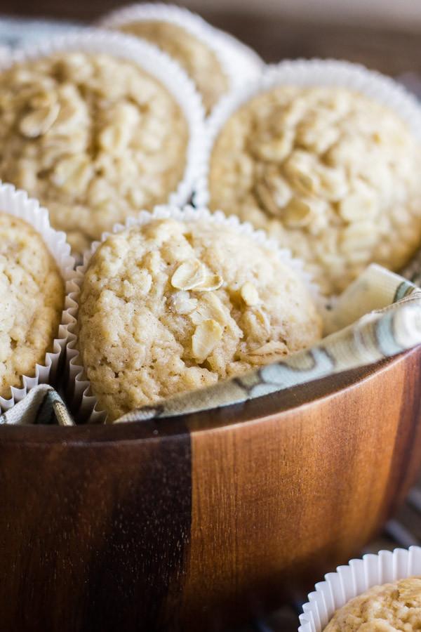Oatmeal Applesauce Muffins  Healthy Applesauce Oat Muffins Lovely Little Kitchen