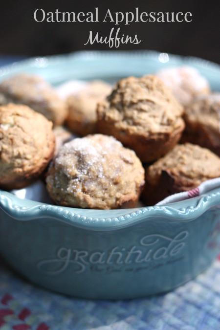 Oatmeal Applesauce Muffins  Oatmeal Applesauce Muffin Recipe Balancing Beauty and Bedlam
