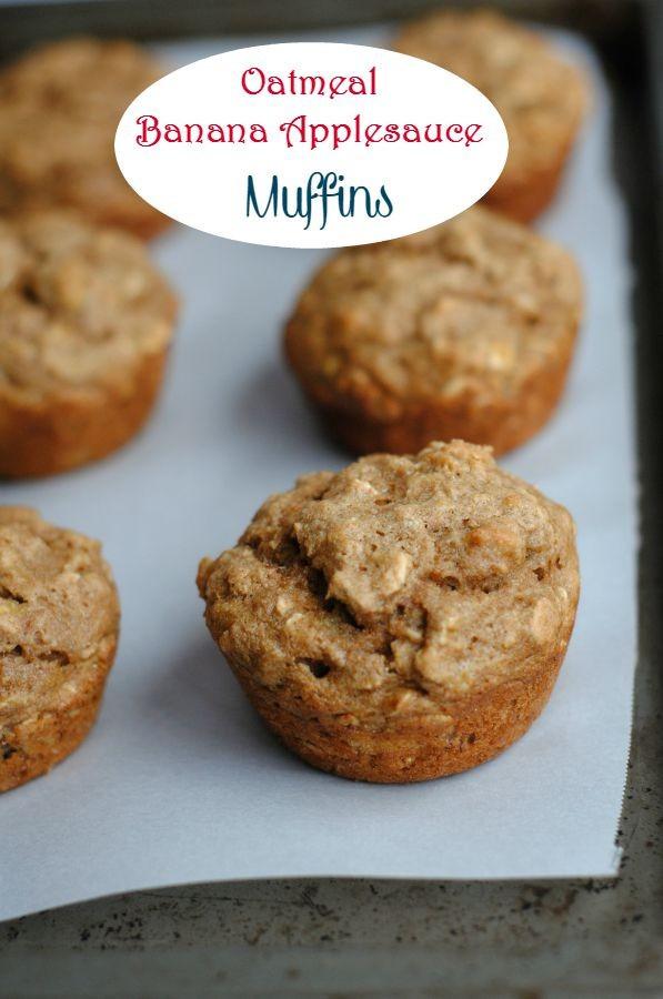 Oatmeal Applesauce Muffins  Oatmeal Banana Applesauce Muffins