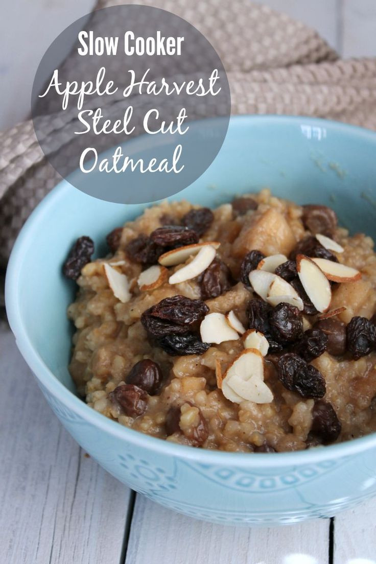 Oatmeal Recipes For Weight Loss  Slow Cooker Apple Harvest Steel Cut Oatmeal