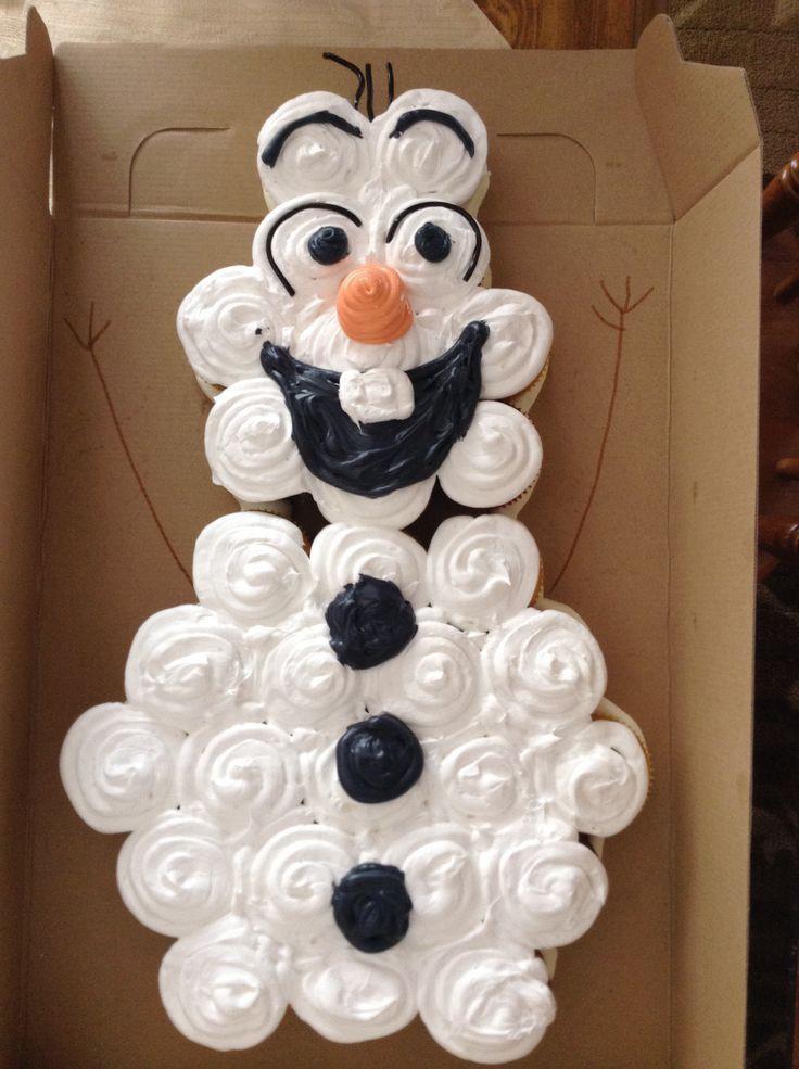 Olaf Cupcakes Cake  Olaf Cake Ideas