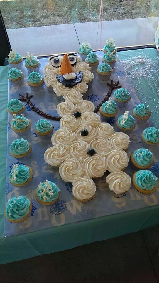 Olaf Cupcakes Cake  Olaf cupcake cake Party ideas Pinterest