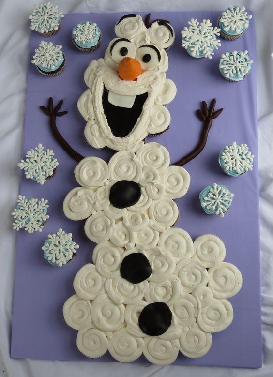 Olaf Cupcakes Cake  Olaf cupcakes