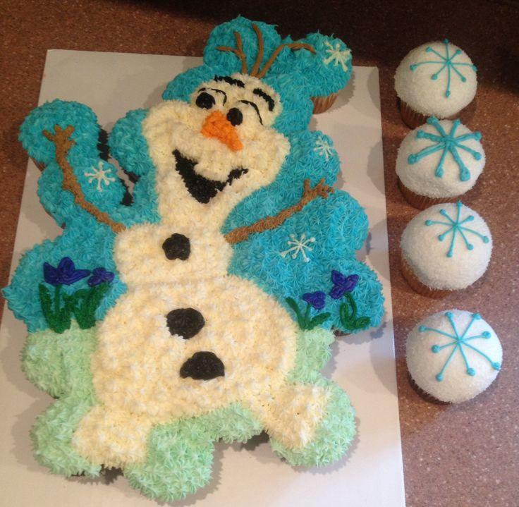 Olaf Cupcakes Cake  Olaf Pull Apart Cake Cupcakes