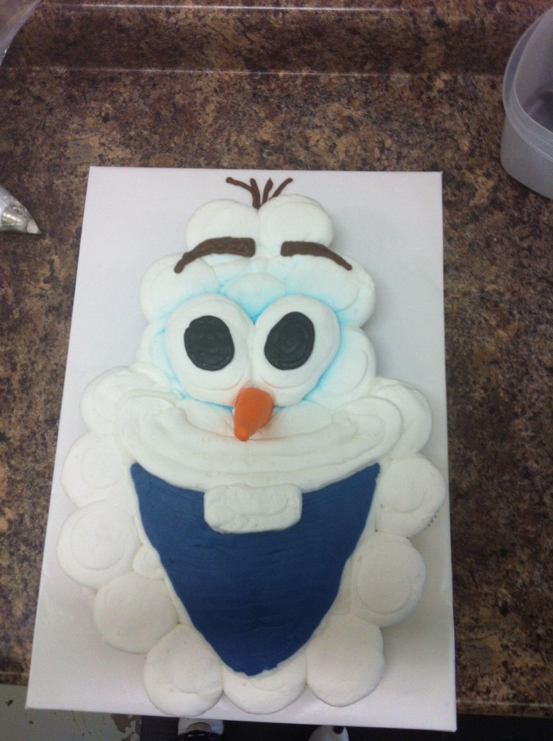Olaf Cupcakes Cake  Olaf Cupcake Cake