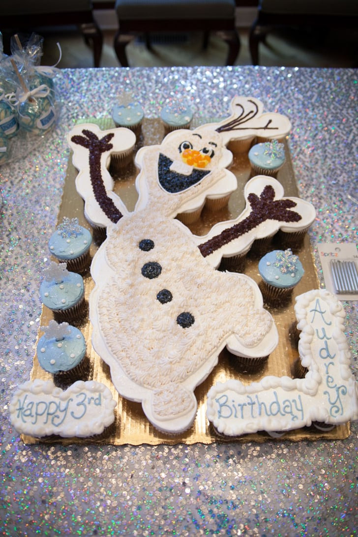 Olaf Cupcakes Cake  This adorable Olaf cupcake arrangement was ordered at the
