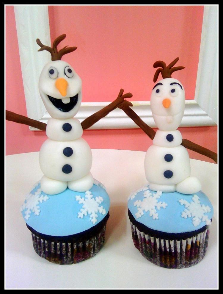 Olaf Cupcakes Cake  Frozen cupcakes Olaf cupcakes