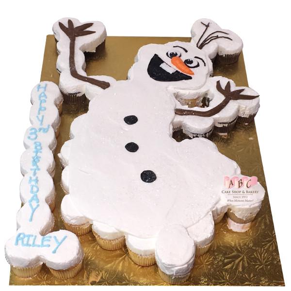 Olaf Cupcakes Cake  1480 Olaf Cupcake Cake ABC Cake Shop & Bakery