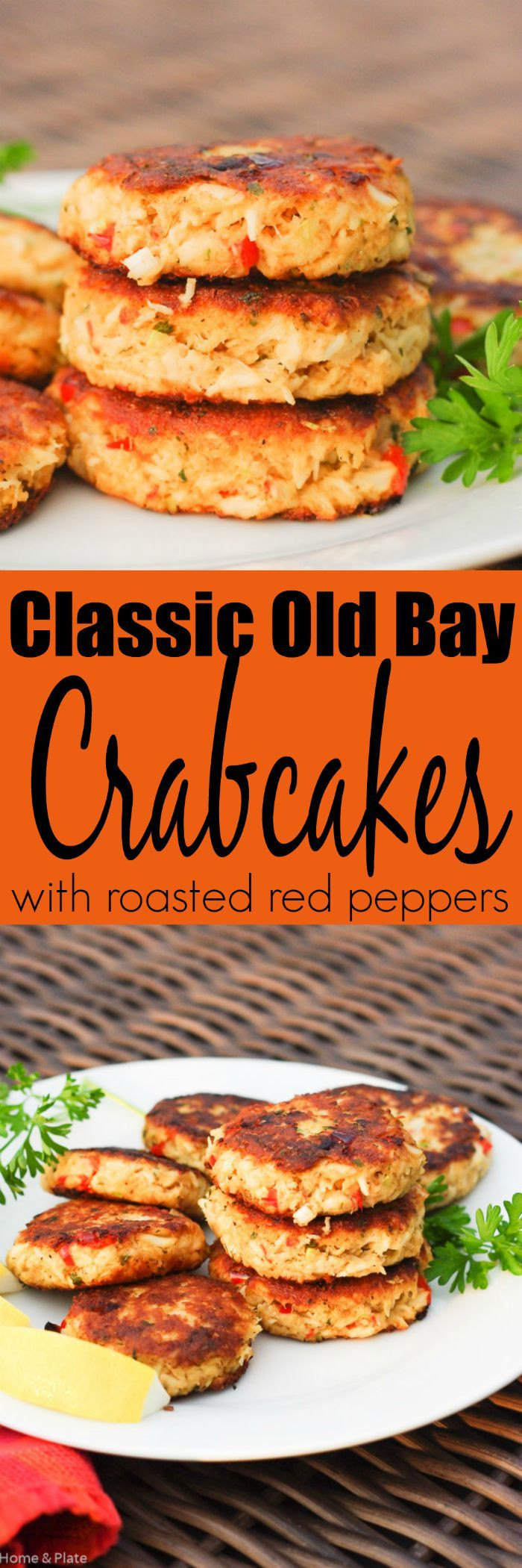 Old Bay Crab Cake Recipe  Classic Old Bay Crab Cakes with Roasted Red Peppers
