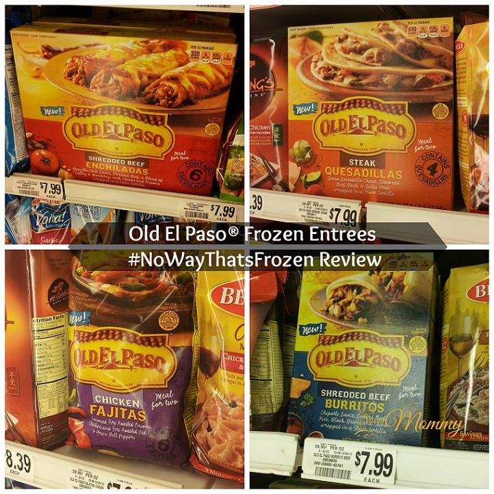 Old Frozen Dinner Brands  Old El Paso Frozen Entrees NoWayThatsFrozen Review spon