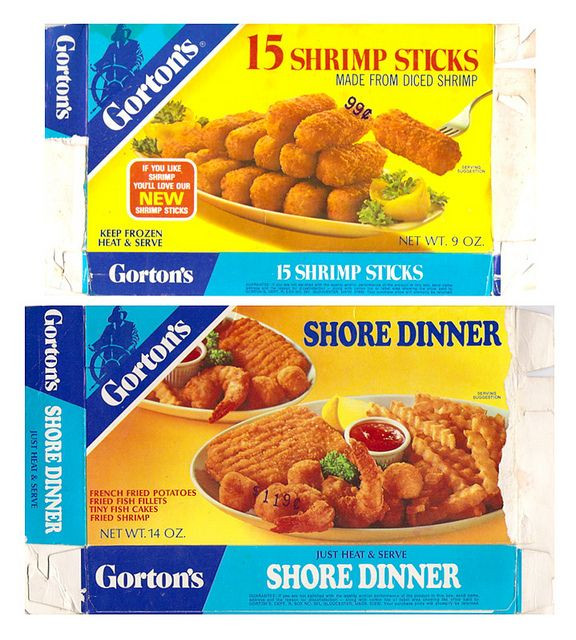 Old Frozen Dinner Brands  Old Gorton s Frozen Fish Dinners Boxes Shrimp