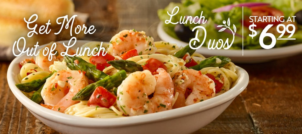 Olive Garden Early Dinner Duos  Specials