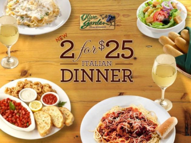 Olive Garden Early Dinner Special  Olive Garden 2 For 25 Special Deal Is Back View The Menu