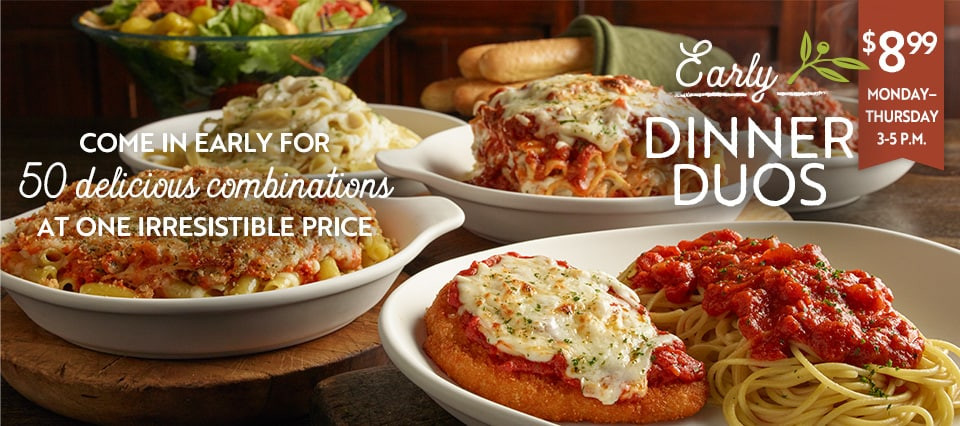 Olive Garden Early Dinner Special  does olive garden have call ahead seating