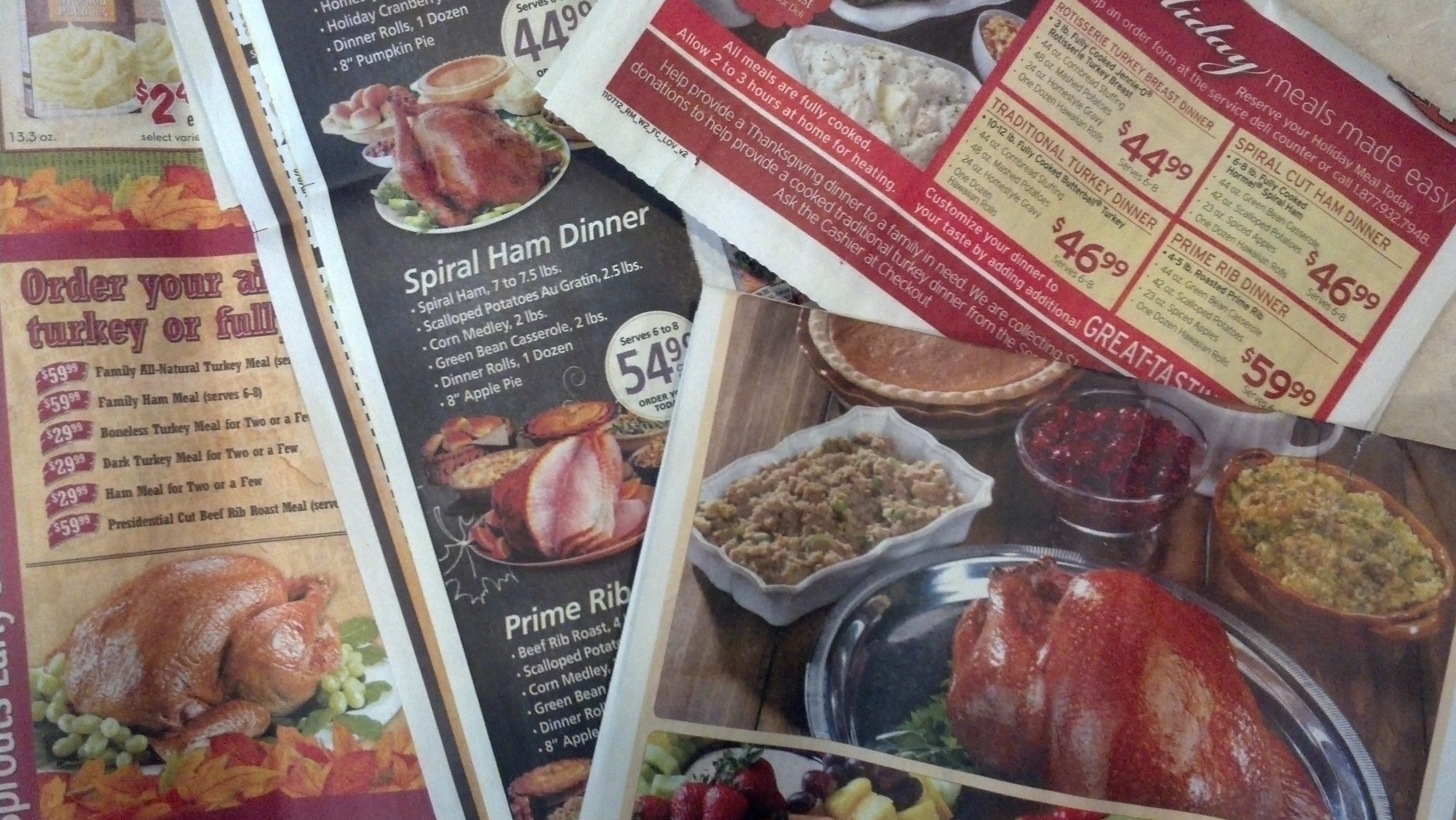 Order Thanksgiving Dinner Safeway  safeway christmas dinner 2012