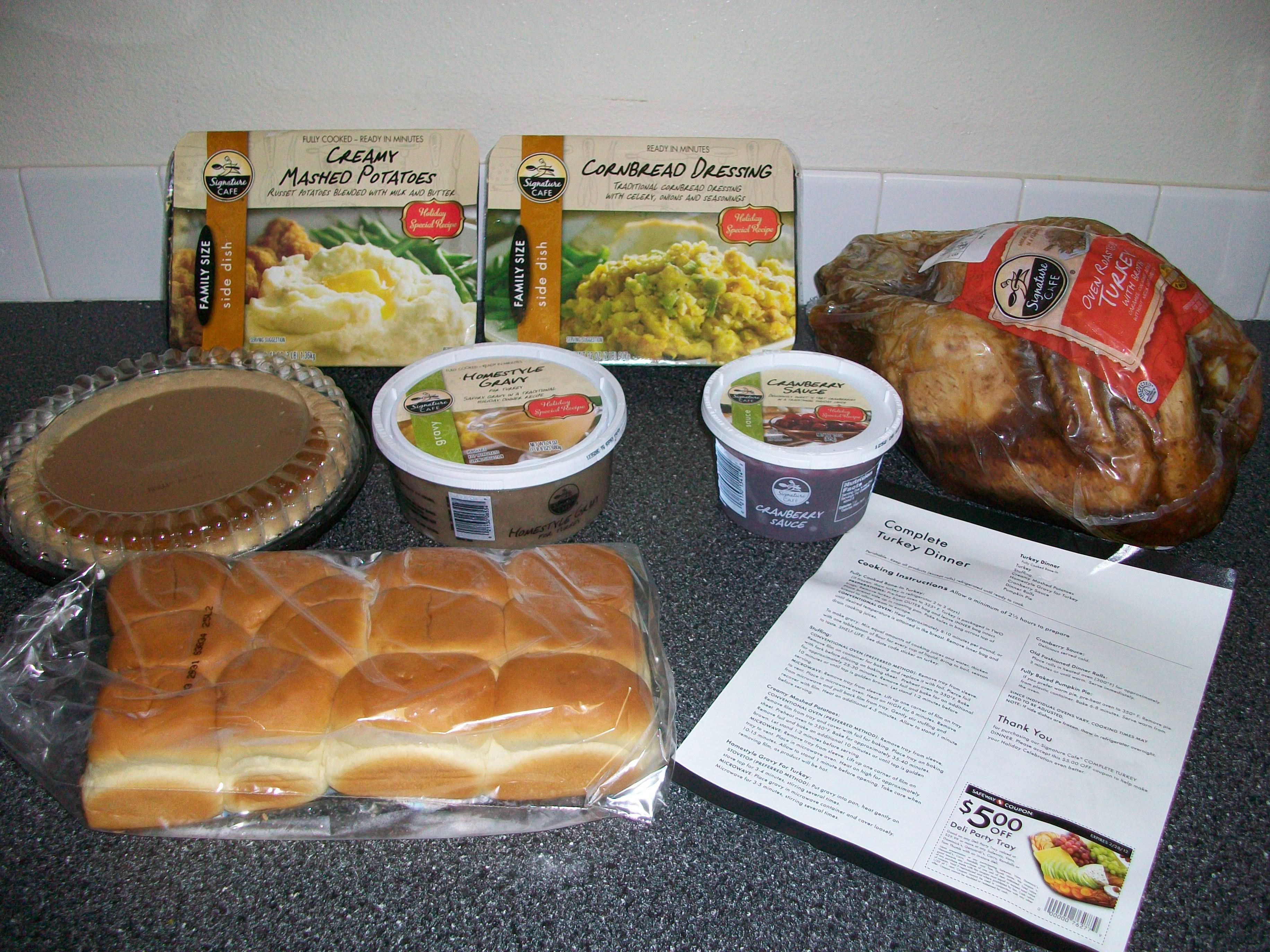 Order Thanksgiving Dinner Safeway  Safeway $39 99 Turkey Dinner Review