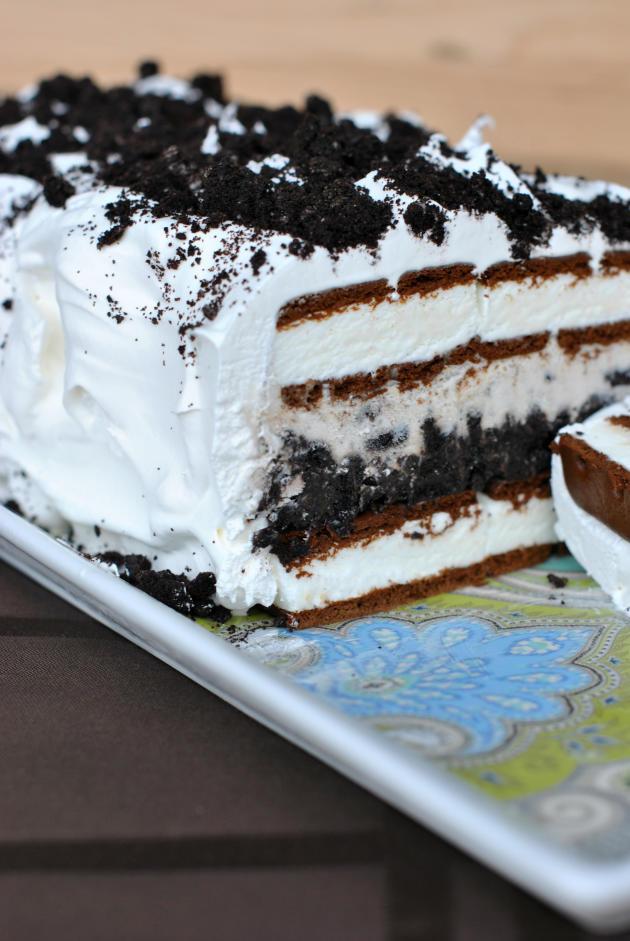 Oreo Ice Cream Dessert  Oreo Ice Cream Cake Easy Frozen Fun Food Fanatic