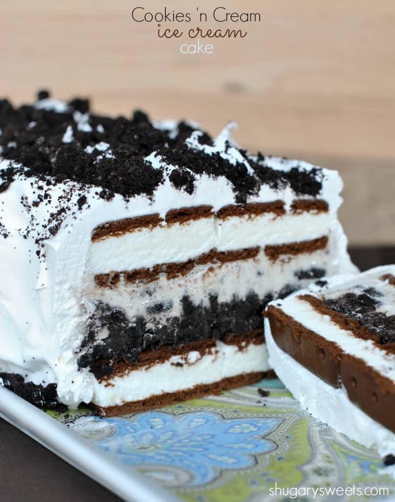 Oreo Ice Cream Dessert  Oreo Ice Cream Cake Shugary Sweets