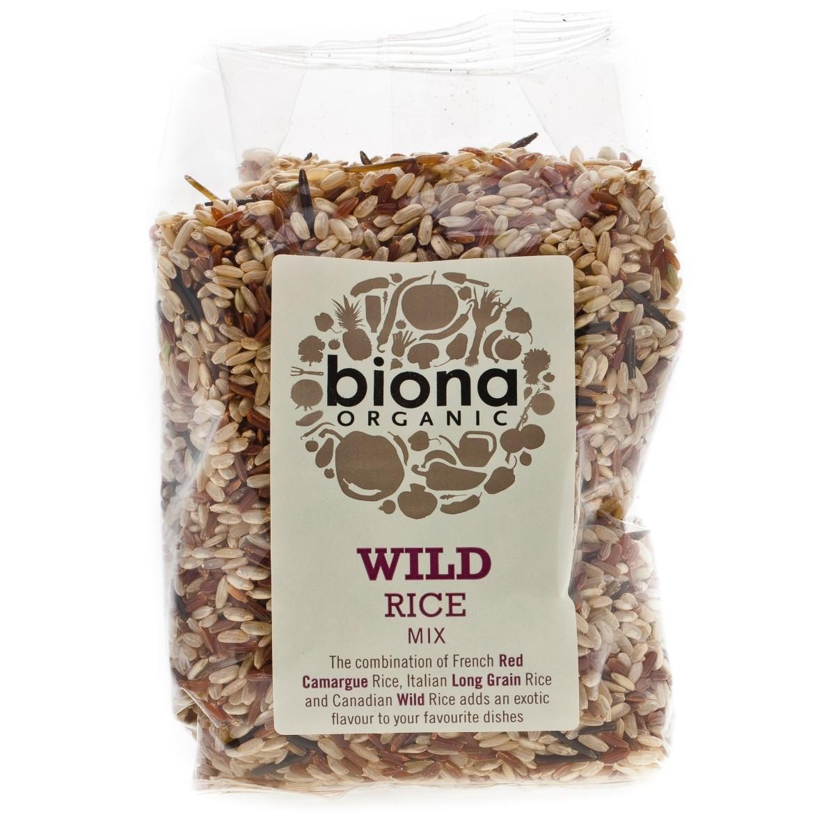 Organic Wild Rice  Biona Organic Wild Rice Mix 500g
